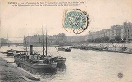 NANTES  - Panorama Du Pont Transbordeur , Du Pont De La Belle Croix De La Poissonnerie - Nantes