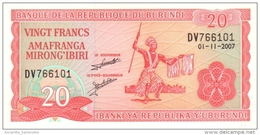 BURUNDI 20 FRANCS 2007 P-27d UNC [BI215n] - Burundi