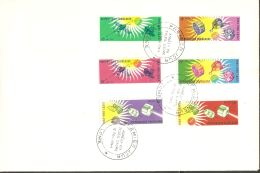 Togo 1964 FDC (2) Mi# 446-451 A, Block 17 - Intl. Quiet Sun Year / Space Satellites - FDC & Commemoratives