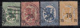 FINLANDIA 1919/20 Nº 91/94 USADO - Gebraucht