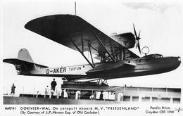 Dornier WAL Hydravion - On Catapault Aboard M.V. 'Friesenland'  -  Pamlin Photocard  -  Carte Postal - 1919-1938: Entre Guerras