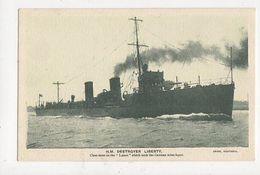 HM Destroyer Liberty Singer Sewing Machines Vintage Advert Postcard 493a - Guerre