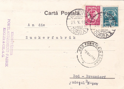 BV6937  COMMERCIAL CARD,PERFINS PERFORES 1934 KULGER & COMPANYI,RARE! ROMANIA. - Perfins