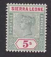 Sierra Leone, Scott #45, Mint Hinged, Queen Victoria, Issued 1896 - Sierra Leone (...-1960)