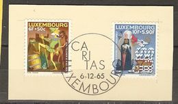 Luxembourg - 1965 - Caritas - YT 676/7 - Cachet Ier Jour - Sur Fragment - Luxembourg