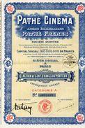 ACTION  PATHE CINEMA PATHE FRERES Action De Cent Francs Au Porteur - Cinéma & Théatre