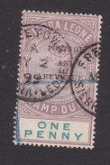 Sierra Leone, Scott #47, Used, Queen Victoria Overprinted, Issued 1897 - Sierra Leone (...-1960)