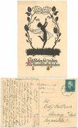 AK Rosen Elfe Freundschaft, Scherenschnitt, Marta Sachse Schubert, Leipzig 1930 - Silhouettes