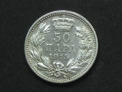 50 Lepta 1915 - Argent - Silver -   **** EN ACHAT IMMEDIAT ****  Monnaie Assez Recherchée - Etat Proche Du SPL - Serbie