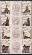 Romania, 2012, Architecture, Church, 4 X 2 Stamps + Labels - 1948-.... Républiques