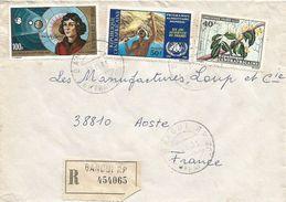 Centrafrique RCA CAR 1973 Bangui Copernicus FAO Food Liana Climber Registered Cover - Centraal-Afrikaanse Republiek