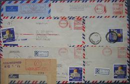 Yemen -  Lot De 6 Enveloppes Dont 2 Devants - Départ Petit Prix - Francobolli