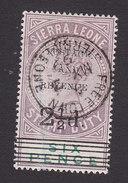 Sierra Leone, Scott #52, Used, Queen Victoria Overprinted, Issued 1897 - Sierra Leone (...-1960)