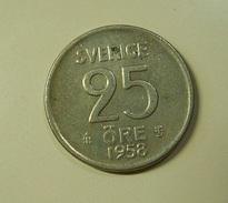 Sweden 25 Ore 1958 Silver - Schweden