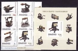 Romania, Romania, 2012 Old Irons, 6 Stamps +s/s Block - 1948-.... Républiques