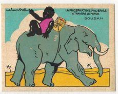 CHROMO Publicitaire PHOSPHATINE FALIERES Asnières SOUDAN Illustrateur Chambrelent Animaux Eléphant  Enfant Nègre Négro - Altri