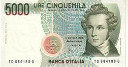 Italy P.111c  5000 Lire 1996  Unc - [ 2] 1946-… : Républic