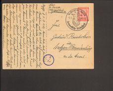 SBZ Westsachsen 12 Pfg.Ziffer Auf Fernpostkarte (Blumenmotiv) Aus Klingenthal 1946 Mit Ortswerbestempel 2 Bilder - Zone Soviétique