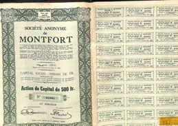 Lot De 13 Titres SA De Montfort, Liège, 1944 - Actions & Titres
