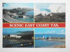 Postcard Scenic East Coast Tasmania Multiview PU Swansea Tas 1987  My Ref B21791 - Australia