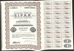 Lot De 2 Titres SIFAR, Sociedad Industrial Financiera Argentina (1966, 50 Acciones) - Actions & Titres
