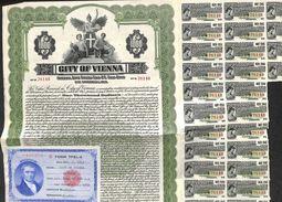 Lot De 2 Titres City Of Vienna, Gold Bond, 1,000 $, 1952 - A - C