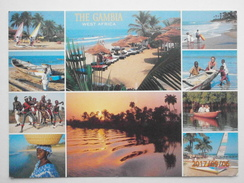Postcard Gambia West Africa Multiview With Nice Yundum Airport Cancel [ Banjul ] PU 2003  My Ref B21793 - Gambia