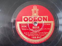 78T - Manon Et Le Roi D'ys Par Vergnes - 78 G - Dischi Per Fonografi