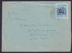 Yugoslavia 1955 United Nations - 10th Anniversary, Letter Sent From Beograd To Arlesheim - 1945-1992 Socialist Federal Republic Of Yugoslavia