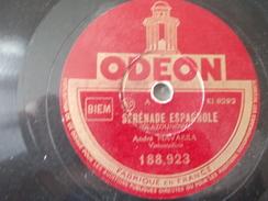 78T - 5eme Danse Espagnole Et Sérénade Espagnole Par André Navarra - 78 G - Dischi Per Fonografi