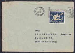 Yugoslavia 1957 Olympic Games In Melbourne, Letter Sent From Novi Sad To Sarajevo - 1945-1992 Socialist Federal Republic Of Yugoslavia