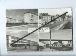 CPSM -  Villeneuve St Georges - La Cité Sellier-La Rue De Paris-Les écoles- La Passerelle - Villeneuve Saint Georges
