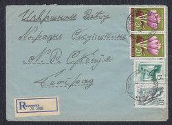 Yugoslavia 1961 Flowers, Registered Letter Sent From Osipaonica To Beograd - 1945-1992 Sozialistische Föderative Republik Jugoslawien