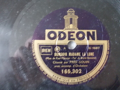 78T - Le Coeur De Ma Vie Et Bonsoir Madame La Lune Par Fred Gouin - 78 G - Dischi Per Fonografi