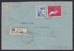 Yugoslavia 1957 Registered Letter, Pancevo, Loco - 1945-1992 Socialist Federal Republic Of Yugoslavia