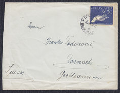 Yugoslavia 1957 Workers Councils, Letter Sent From Beograd To Dornach - 1945-1992 Socialist Federal Republic Of Yugoslavia
