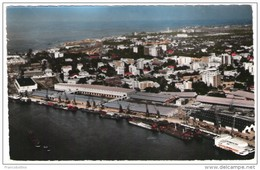 BELGISH CONGO - LEOPOLDVILLE - VUE AERIENNE DU PORT - Kinshasa - Leopoldville