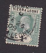 Sierra Leone, Scott #86, Used, King Edward VII, Issued 1904 - Sierra Leone (...-1960)
