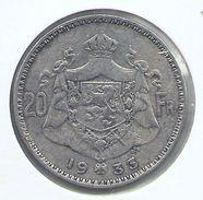 ALBERT I * 20 Frank 1933 Frans  Pos.B * Prachtig * Nr 9693 - 11. 20 Francs & 4 Belgas