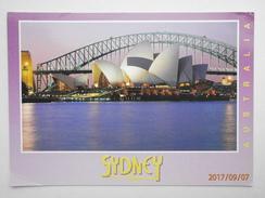 Postcard Sydney Opera House At Dusk PU 1998 My Ref B21803 - Sydney