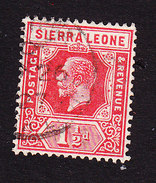 Sierra Leone, Scott #124, Used, King George V, Issued 1921 - Sierra Leone (...-1960)