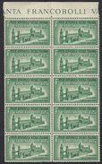 ITALIA - ITALY - Repubblica Sociale - 1944 - Lotto 10 Valori Unificato E23, Nuovi MNH, Uniti. - 4. 1944-45 Repubblica Sociale