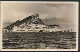 °°° 6339 - GIBRALTAR - THE ROCK FROM THE STRAITS - 1956 With Stamps °°° - Gibilterra