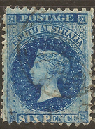 SOUTH AUSTRALIA 1876 6d Ultra SG 141 U #ABG246 - 1855-1912 South Australia