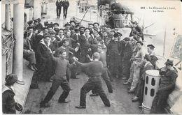 Thème BOXE - 259 - Le Dimanche à Bord. La Boxe -  Circulé 1905 - TBE - Boxe