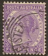 SOUTH AUSTRALIA 1876 4d QV P13 SG 193 U #ABG346 - Covers & Documents