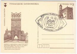 Poland Polska 1979 Sandomierz, Canceled In Pisz 1980, Philatelic Exhibition - Ganzsachen