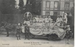 BEUZEVILLE - CAVALCADE DE BEUZEVILLE - LE CHAR DES BEBES - MAGNIFIQUE ANIMATION - 1917 - France