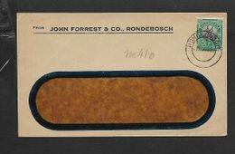 S.Africa, Window Envelope For John Forrest &Co, Local, 1/2d, RONDEBOSCH 2 NOV 27 C.d.s. - South Africa (...-1961)