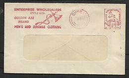 S.Africa, Meter Frank, 1d, DURBAN  6 VIII 55 + Slogan  ENTERPRISE WHOLESALER / GOLDEN AXE BRAND - South Africa (...-1961)